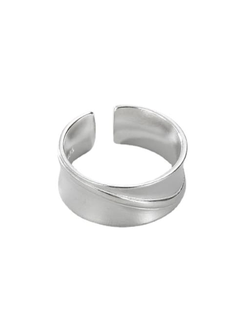 Geometric smooth ring 925 Sterling Silver Geometric Vintage Band Ring