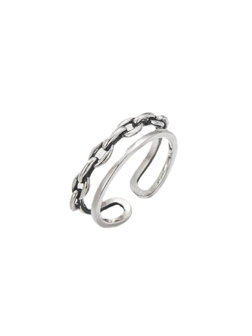 ARTTI 925 Sterling Silver Geometric Vintage Stackable Ring 4