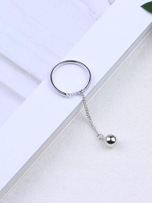 ACE 925 Sterling Silver Ball Minimalist Midi Ring 0