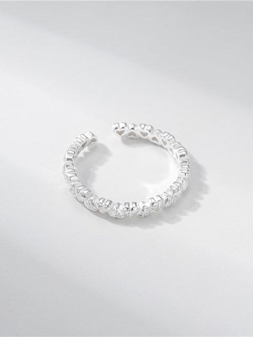 ARTTI 925 Sterling Silver Heart Minimalist Band Ring 1