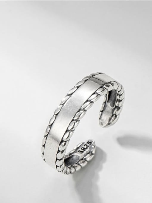 Lace ring 925 Sterling Silver Geometric Vintage Band Ring