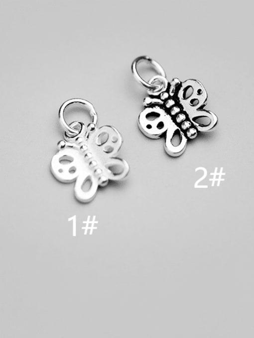 FAN 925 Sterling Silver Charm Butterfly Height : 12 mm , Width: 11 mm