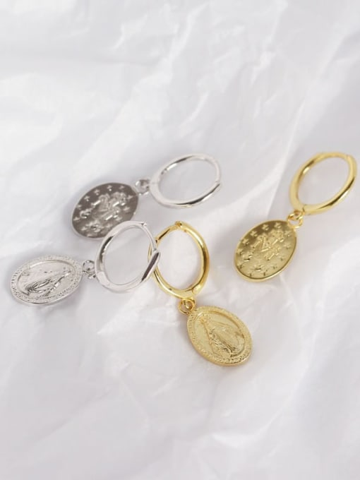 ACE 925 Sterling Silver Geometric Vintage Huggie Earring 1
