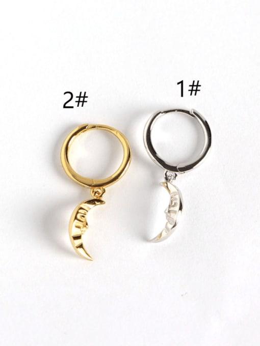 ACE 925 Sterling Silver Moon Trend Huggie Earring 2