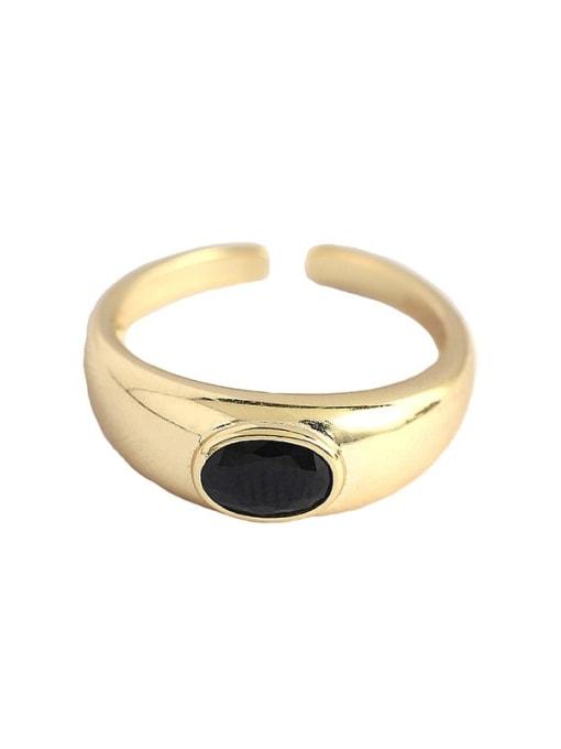 ACEE 925 Sterling Silver Enamel Geometric Minimalist Band Ring 3
