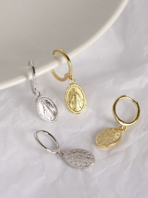 ACE 925 Sterling Silver Geometric Vintage Huggie Earring 2