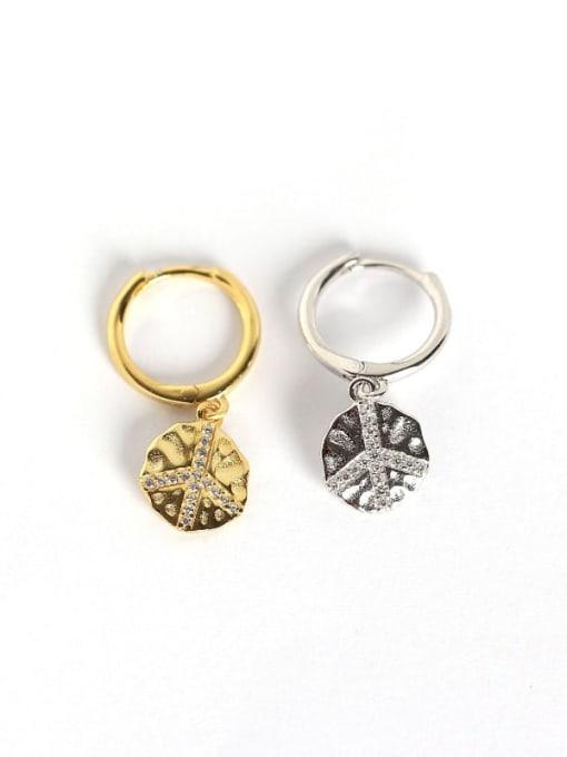 ACE 925 Sterling Silver Geometric Trend Huggie Earring 2