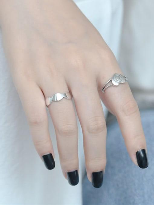 ARTTI 925 Sterling Silver Geometric Vintage Band Ring 1