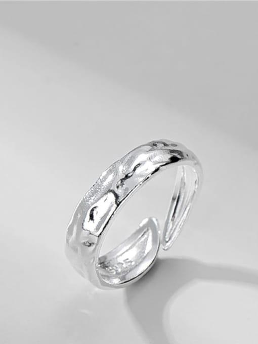 Texture ring 925 Sterling Silver Irregular Vintage Band Ring