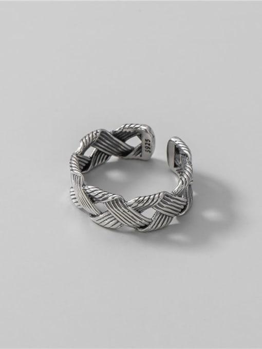 ARTTI 925 Sterling Silver Geometric Vintage Midi Ring 2