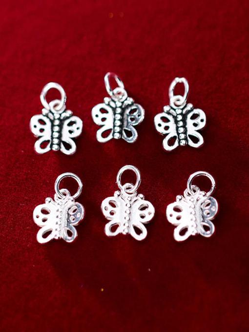 FAN 925 Sterling Silver Charm Butterfly Height : 12 mm , Width: 11 mm 1
