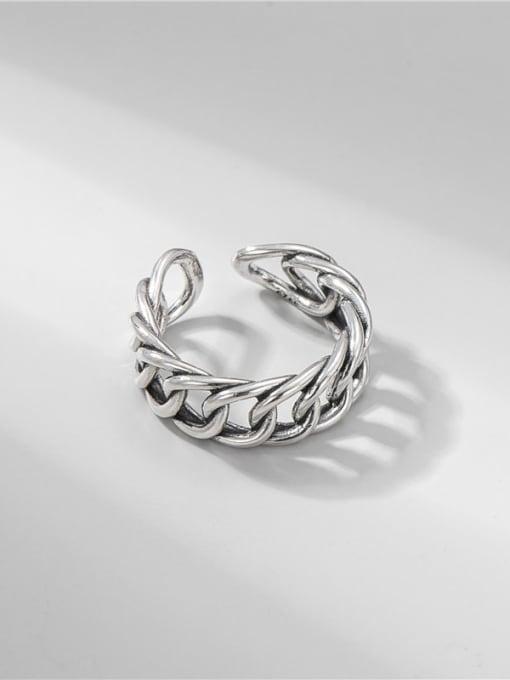 ARTTI 925 Sterling Silver Geometric Vintage Band Ring 3