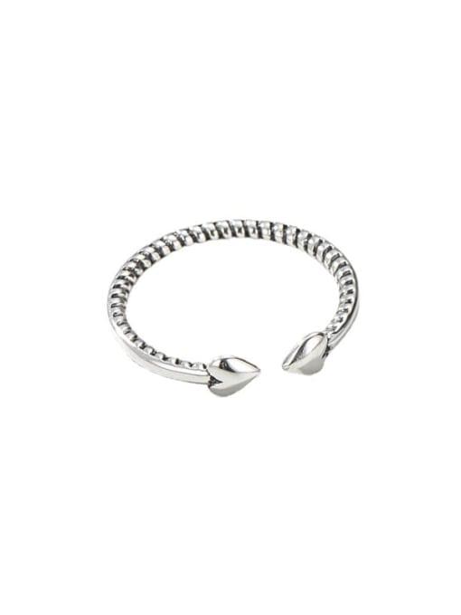 ARTTI 925 Sterling Silver Heart Minimalist Band Ring 0