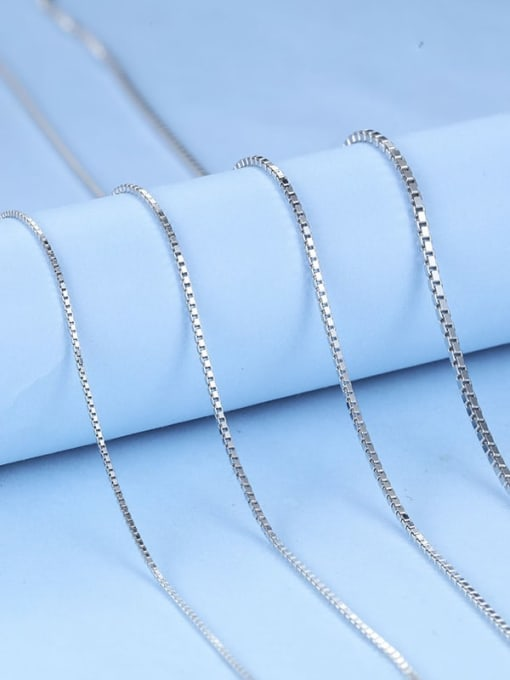 Supply 925 Sterling Silver lengthen Box Chain
