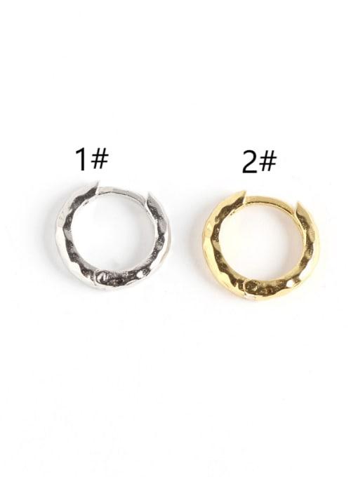 ACE 925 Sterling Silver Geometric Luxury Huggie Earring 2