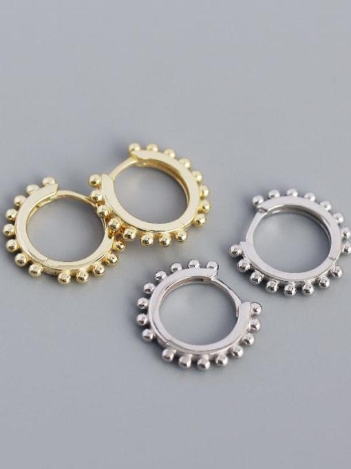 ACE 925 Sterling Silver Geometric Minimalist Huggie Earring 1