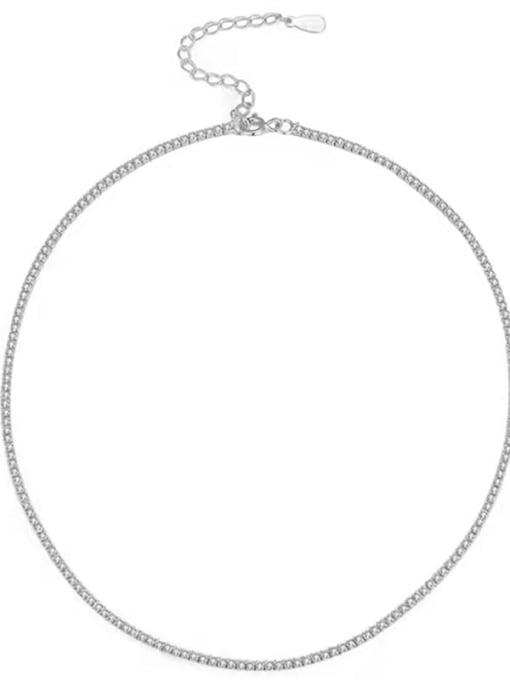 ARTTI 925 Sterling Silver Cubic Zirconia Geometric Minimalist Necklace 2