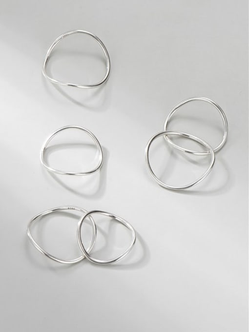 Arc ring 925 Sterling Silver Round Minimalist Band Ring