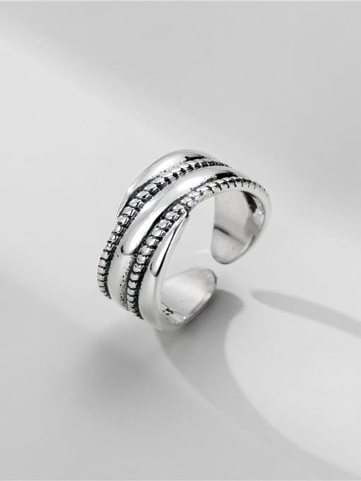 Twist ring 925 Sterling Silver Geometric Vintage Stackable Ring