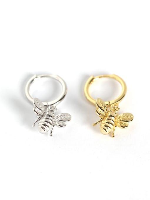 ACE 925 Sterling Silver Bug Cute Huggie Earring 2