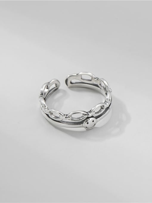 ARTTI 925 Sterling Silver Smiley Vintage Stackable Ring 2