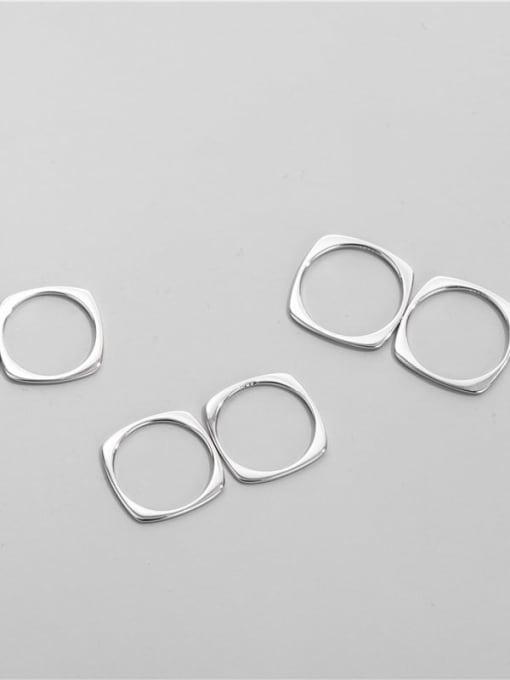 ARTTI 925 Sterling Silver Geometric Minimalist Band Ring