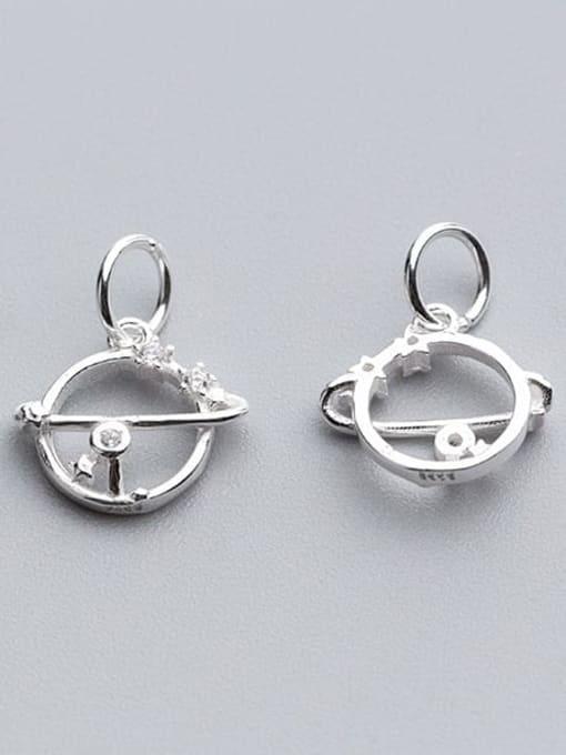 FAN 925 Sterling Silver Round Charm Height : 12.2 mm , Width: 11.5 mm 1