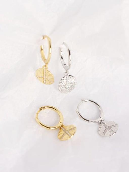 ACE 925 Sterling Silver Geometric Trend Huggie Earring