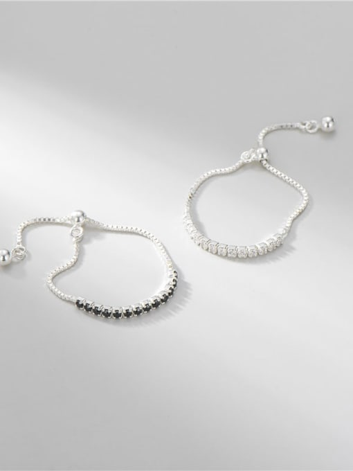 ARTTI 925 Sterling Silver Cubic Zirconia Geometric Minimalist Band Ring