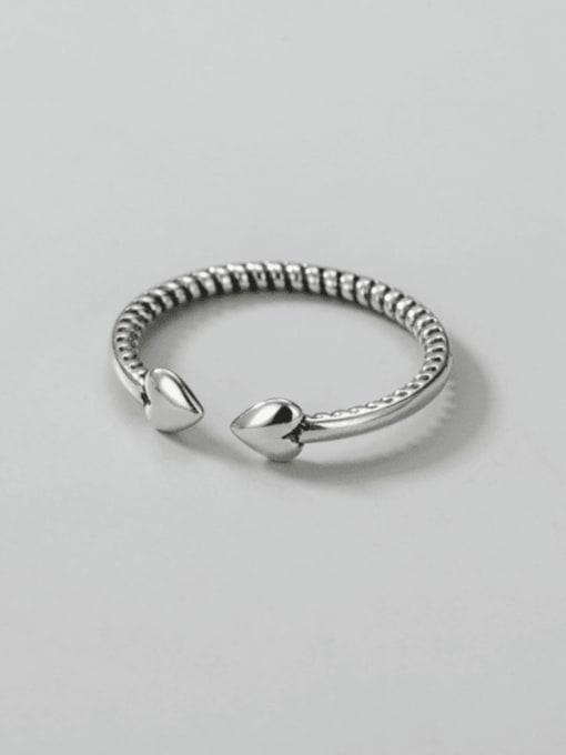 ARTTI 925 Sterling Silver Heart Minimalist Band Ring 3