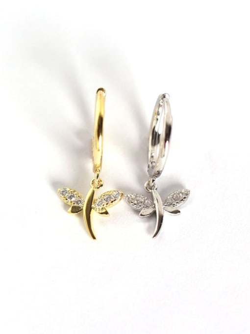 ACE 925 Sterling Silver Dragonfly Trend Huggie Earring 2