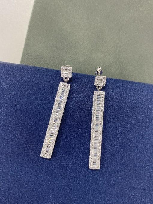LM 925 Sterling Silver Cubic Zirconia Drop Earring