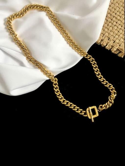 LM Brass Hip Hop Link Necklace