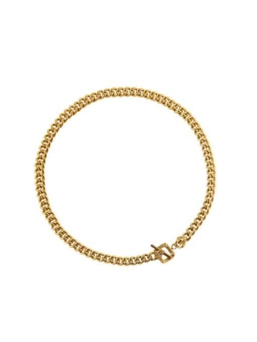 Gold Color Brass Hip Hop Link Necklace
