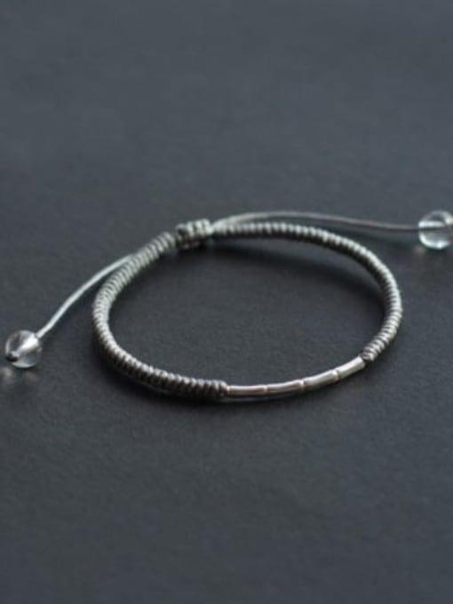 Grey 925 Sterling Silver Bracelet