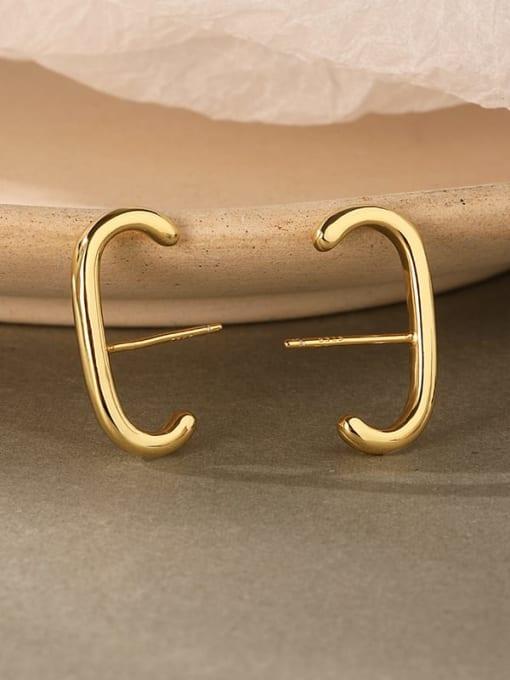 LM 925 Sterling Silver E shape Dainty Clip Earring