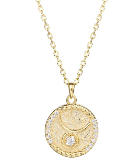 Ya0084 Taurus 925 Sterling Silver Rhinestone  Minimalist  Constellation Pendant Necklace