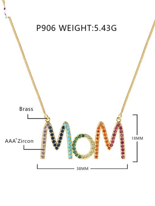 P90618k color zirconium clad chain Brass Cubic Zirconia Classic Letter Pendant