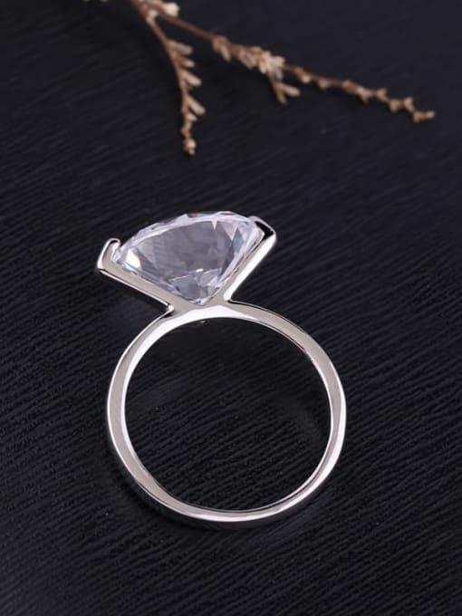 Ming Brass Cubic Zirconia Geometric Minimalist Band Ring 3