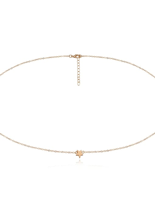 gold Color Alloy Star Body Belt Waist chain