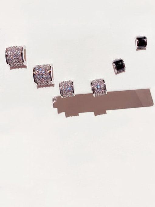 Ming Brass Cubic Zirconia Geometric Minimalist Stud Earring 0