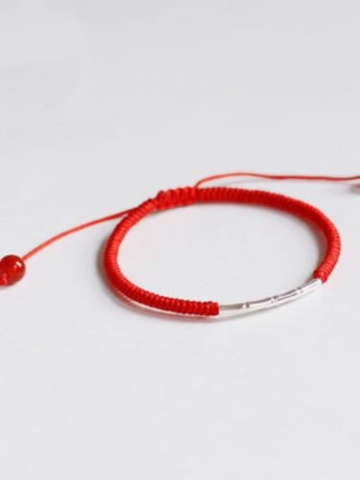 Red 925 Sterling Silver Bracelet