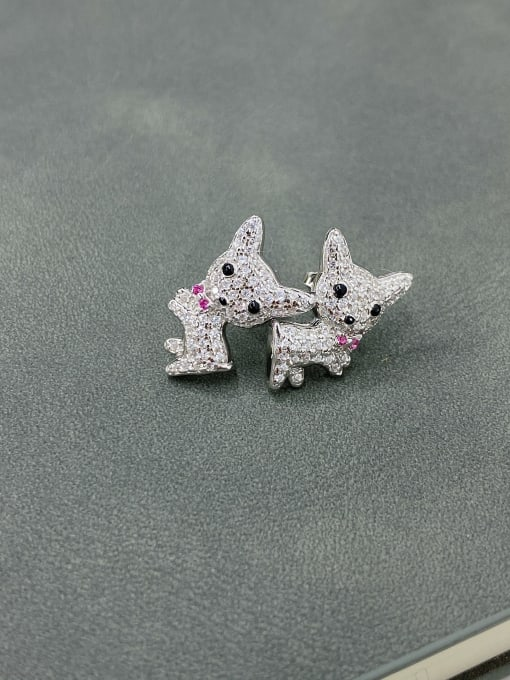 LM 925 Sterling Silver Cluster Earring