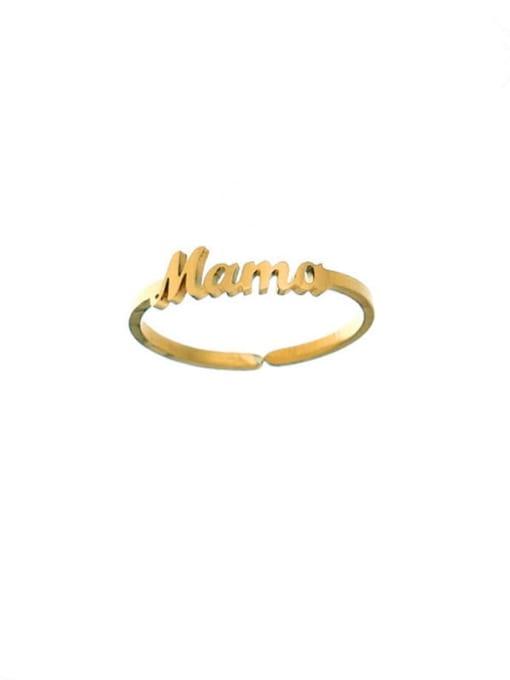 Gold ring Titanium Steel Letter Mama Minimalist Necklace