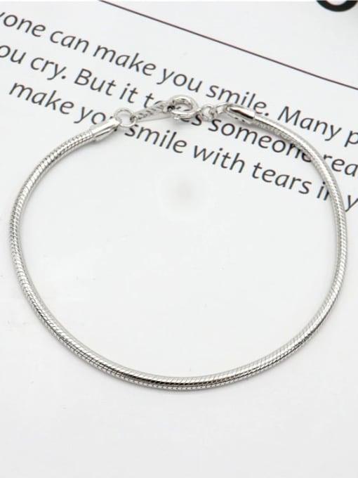 LM 925 Sterling Silver Dainty Bracelet 0