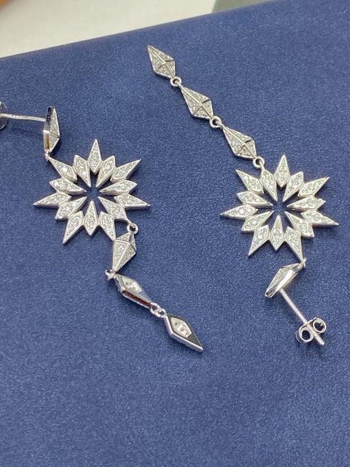 LM 925 Sterling Silver Cubic Zirconia Drop Earring 2