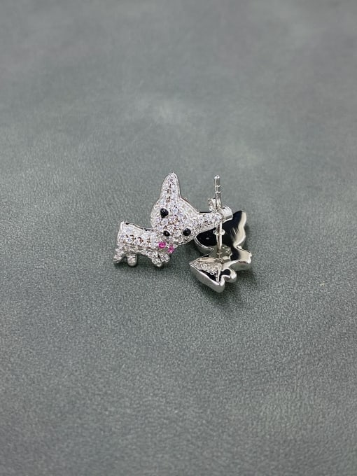 LM 925 Sterling Silver Cluster Earring 1