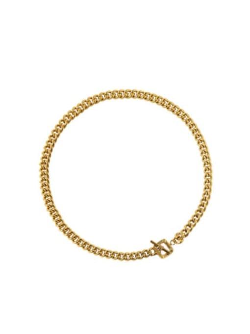 LM Brass Hip Hop Link Necklace 2