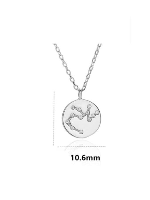 LM 925 Sterling Silver Rhinestone Minimalist Constellation Pendant Necklace 3