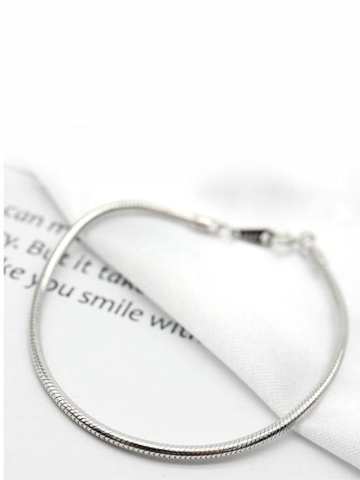 LM 925 Sterling Silver Dainty Bracelet 2